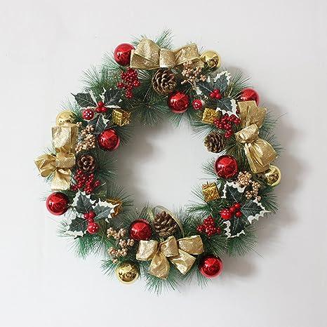 Addobbi Natalizi Per L\'albero Di Natale 40cm Corona Natalizia 50cm ...