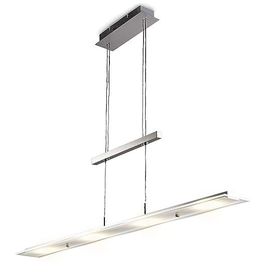 Lámpara colgante metal con LED 18W, cristal auténtico ...