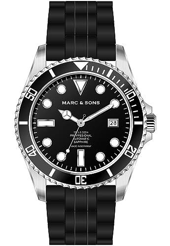 Marc & Sons Professional Reloj de Buceo automático, Diver Watch – MSD de 044 de