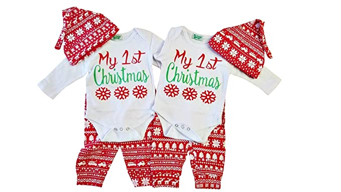 Perfect Pairz Boy Girl Twin 1st Christmas Outfits - Amazon.com: Perfect Pairz Boy Girl Twin 1st Christmas Outfits: Clothing
