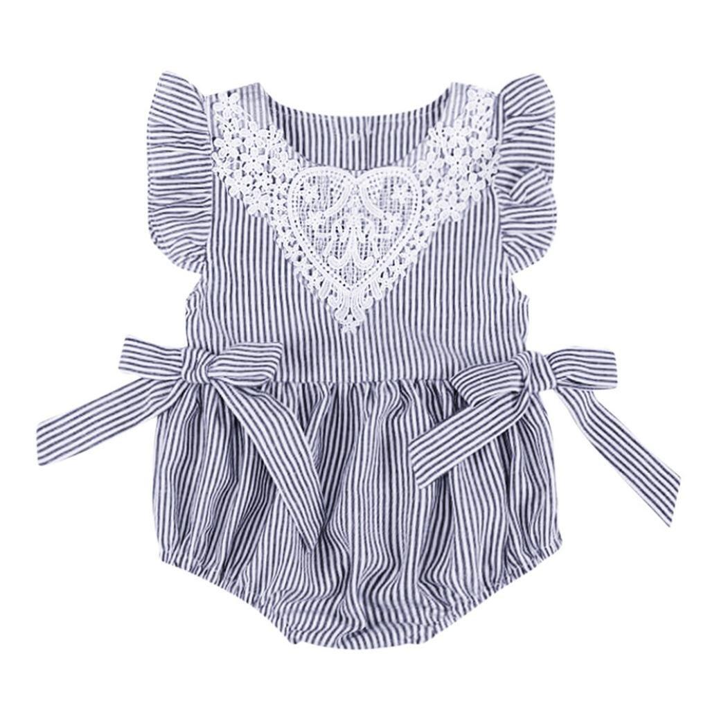 Kingko_ Princess Dress, Cute Baby Girl Dress Summer Clothes Baby Kids Girl's Mini Short Sleeves Dress With Tie Party Dress Dress