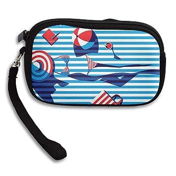 Amazon.com: Monedero de bikini a rayas para niña con ...