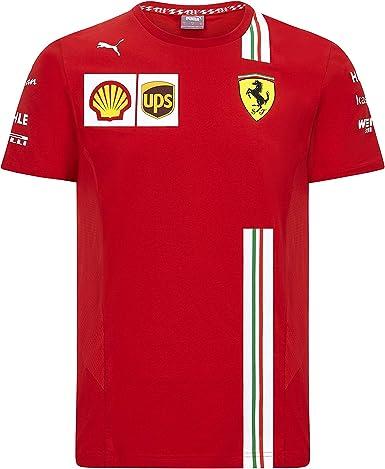 X-Large Formula 1 Mens 2020 Team Shirt Scuderia Ferrari Red