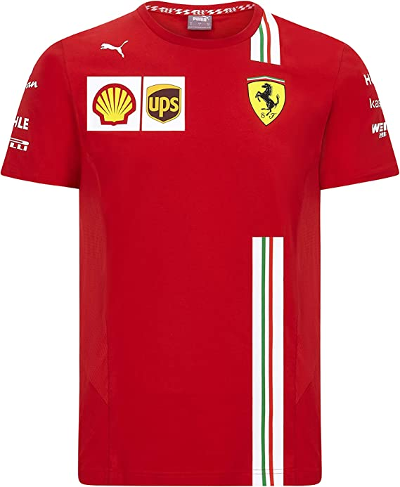 T-SHIRT Mens Ferrari Classic Cotton Shield Graphic Tee F1 Formula One 1 NEW!