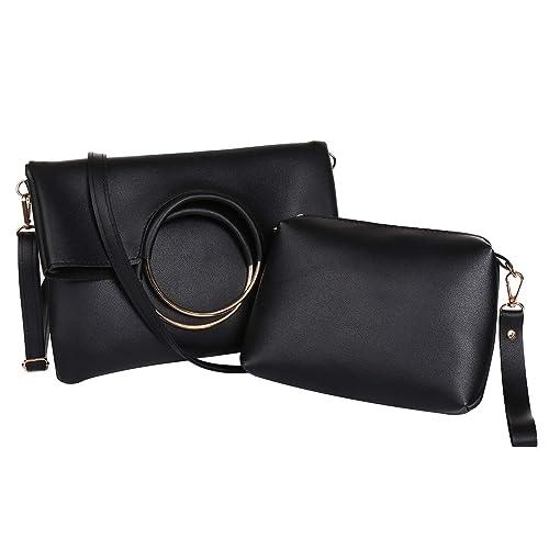 Amazon.com  Women Shoulder Bags Hoop Handle Handbags for Women Top Handle Bag  Tote Bags (Black)  Shoes 1182c6f3c92cb