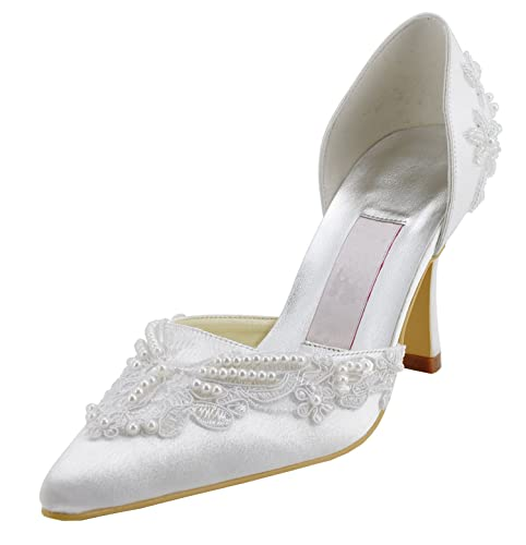 Kevin Fashion - Zapatos de boda fashion mujer , color Beige, talla 42 2/3