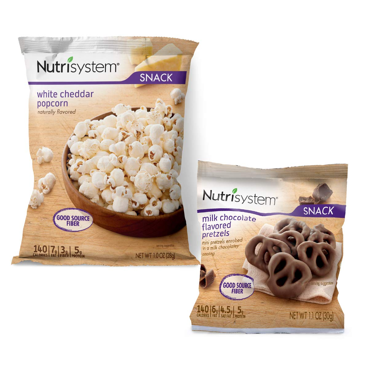 Nutrisystem® Movie Night Snack Pack, 10 ct, Chocolate Covered Pretzels and White Cheddar Popcorn