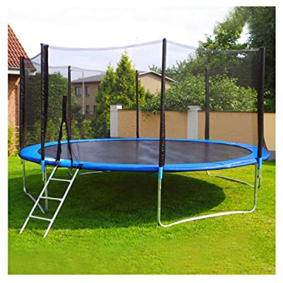 Jentouzz 12 FT Trampoline, Kids Trampoline Combo Bounce Jump with Safety Enclosure Net Spring Pad Ladder, Family Outdoor Entertainment Recreational Trampolines : Sports & Outdoors