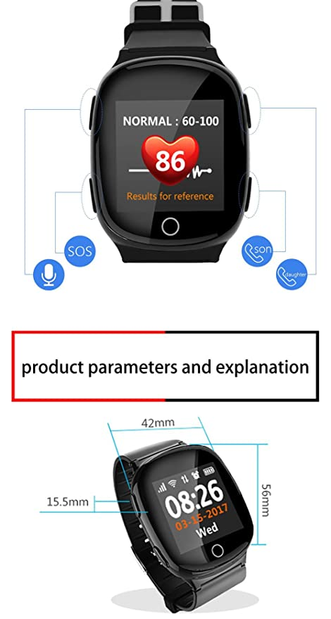 Amazon.com: joyeer Smart Watch Heart Rate Monitor GPS + ...