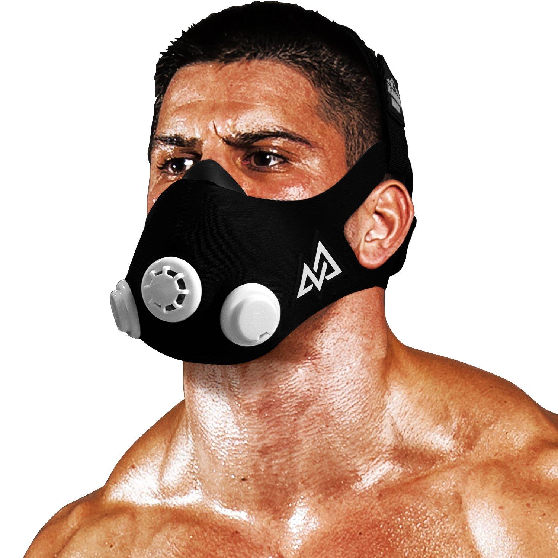 TRAININGMASK Training Mask 2.0 Original Elevation Training Mask | Fitness Mask, Workout Mask, Running Mask, Breathing Mask, Resistance Mask, Elevation Mask, Cardio Mask (Black & White, Large) by TRAININGMASK