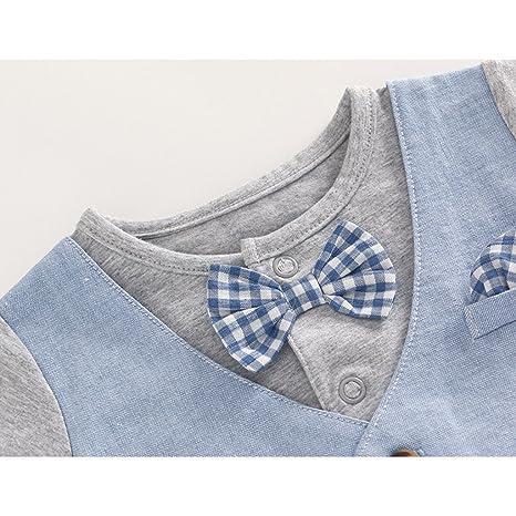 Amazon.com: JiAmy Baby Boy Gentleman Romper Summer Short Sleeve Bowtie Jumpsuit 18-24 Months: Clothing
