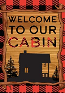 Briarwood Lane Welcome to Our Cabin Summer Garden Flag Camping 12.5