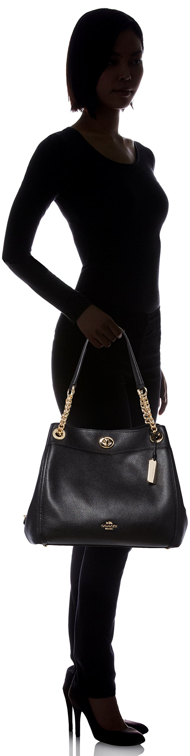 COACH Women's Turnlock Edie LI/Black Shoulder Bag by Coach (Image #6)