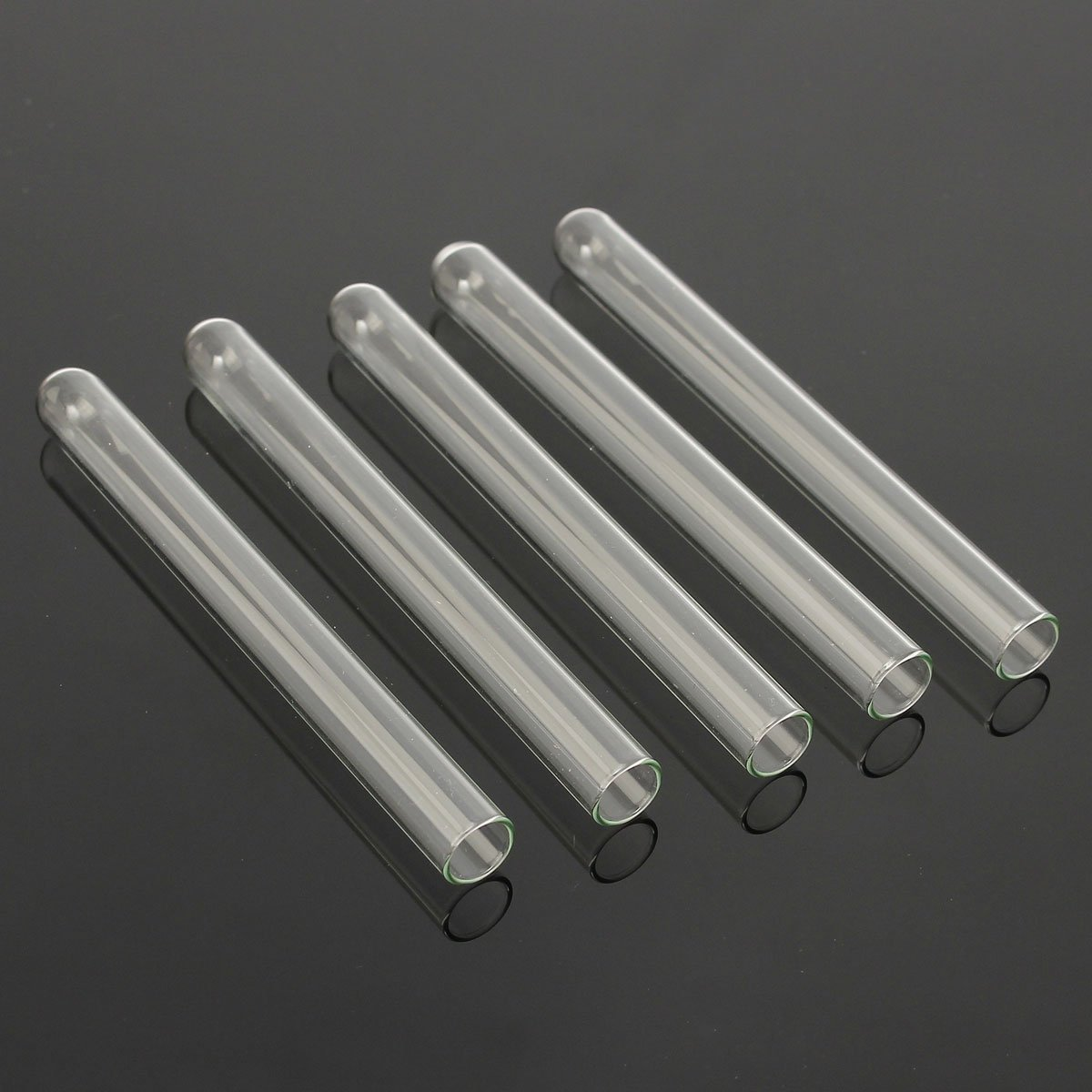 CynKen 10pcs 12x75mm Pyrex Glass Blowing Tubes Wall Test Tube