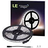 LE 16.4ft 300 SMD 5050 LEDs Flexible Strip Lights, Daylight White, Non-waterproof, 12 Volt, Indoor Party Christmas Holiday Festival Celebration Decoration