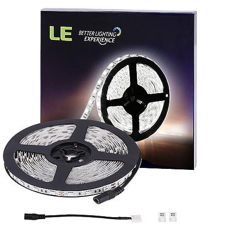 Amazon le 300 smd 5050 leds flexible strip lights 6000k le 300 smd 5050 leds flexible strip lights 6000k daylight white non waterproof aloadofball Gallery