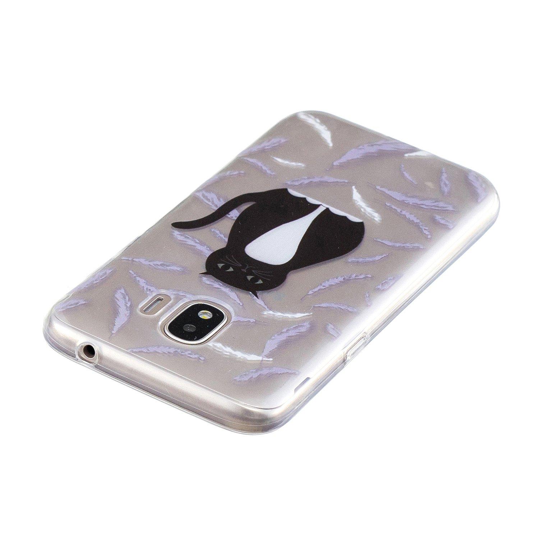 HopMore Coque pour Samsung Galaxy J2 Pro Licornes Blanc Silicone Souple Transparent Motif Swag Dr/ôle /Étui Antichoc Ultra Mince Fine Gel Case Housse Transparente Design pour Fille Gar/çon - 2018
