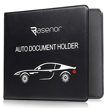 Amazon Com Basenor Registration Insurance Card Holder Slim Leather