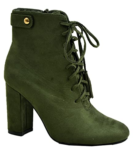 Damen Stiefelette Cucu Fashion Marke New mittlerer Blockabsatz Grouml;szlig;e 3ndash;8 (UK)