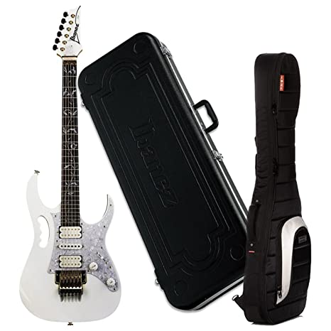 Ibanez jem7vwh Jem 7 V Steve Vai Firma guitarra eléctrica (color blanco) W/