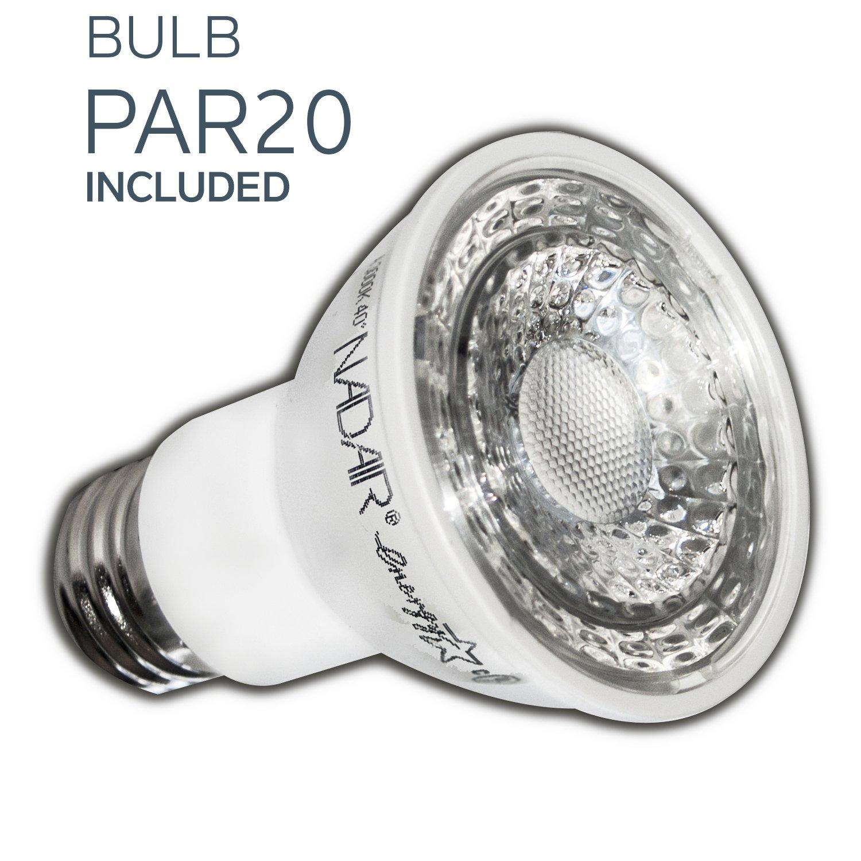 Nadair CP378L-PR12WH 12 Pack 4 LED Swivel Dimmable Downlight Spotlight, 12 x Led Par20 630 Lumens Lightbulb (50W Equivalent) Included