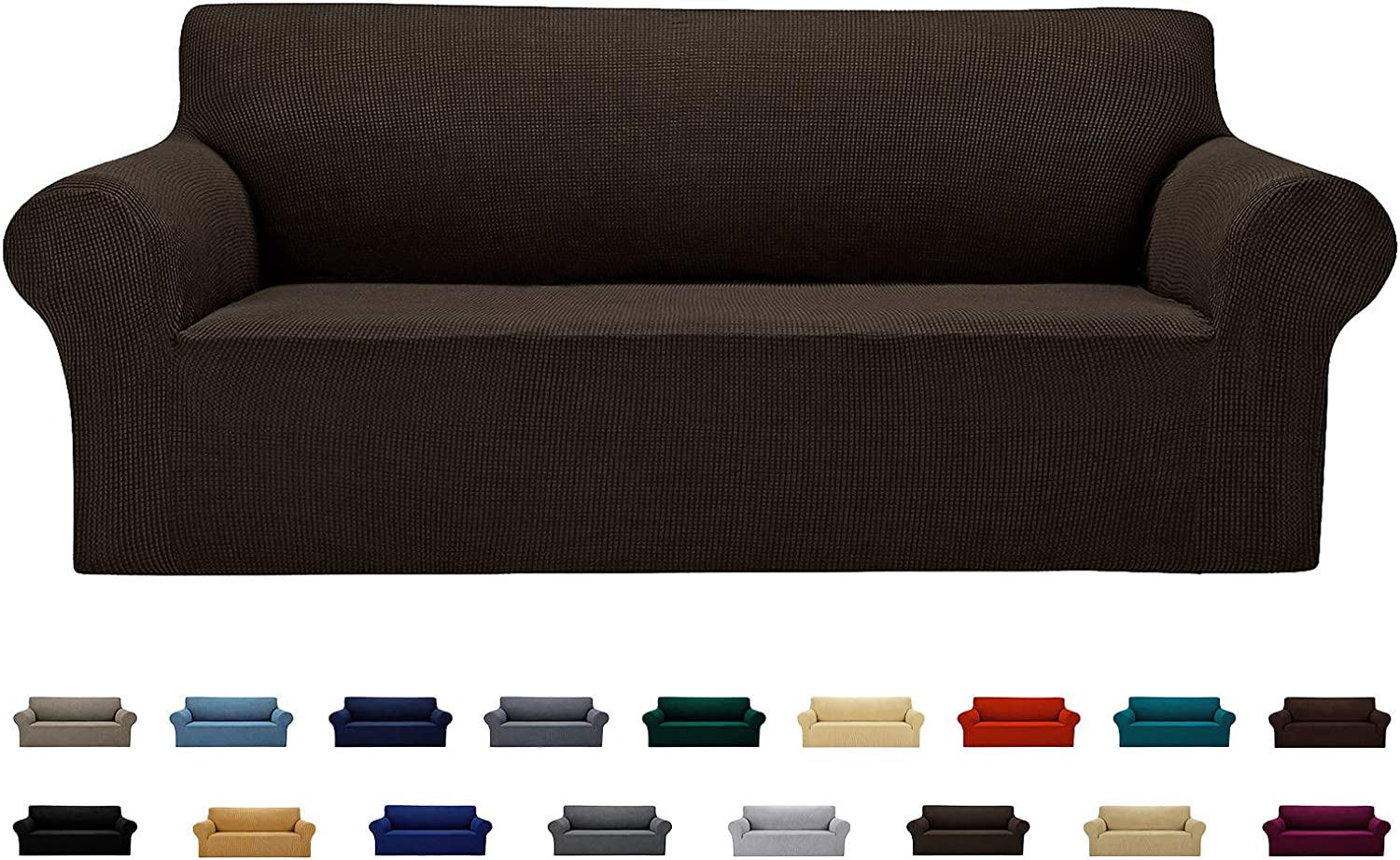 AlGaiety Stretch Sofa Cover Slipcover, Furniture Protector Spandex 1-Piece Couch Coat(80