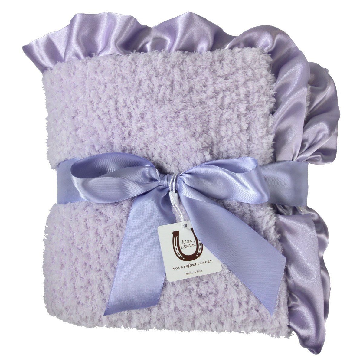 NEW minky rose fur Nursery Baby receiving Blanket Ruffle turquoise giraffe 30/""