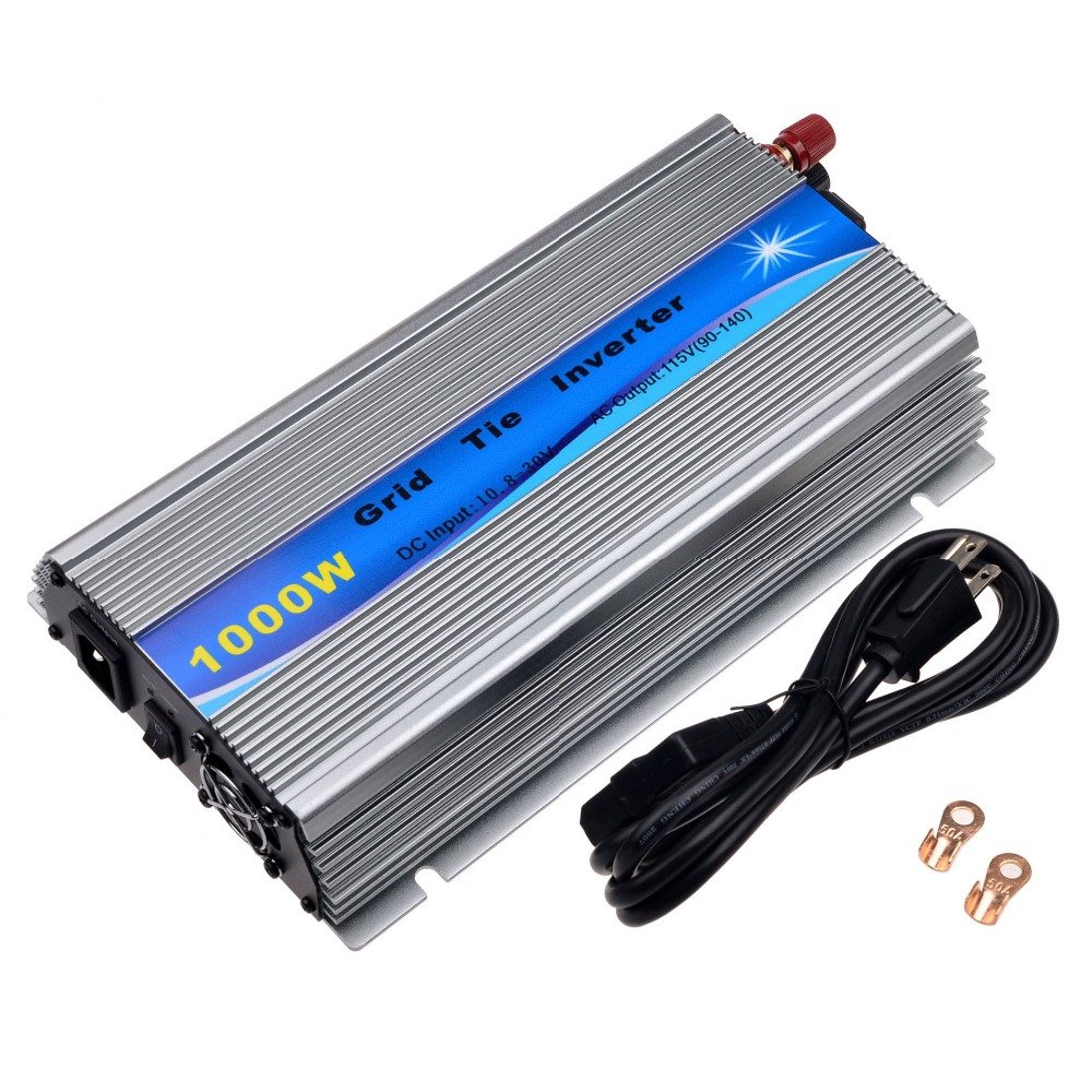 Y&H 1000W Grid Tie Inverter Stackable MPPT Pure Sine Wave DC10.8-30V Solar Input AC90-140V Output for 12V Solar Panel by Y&H