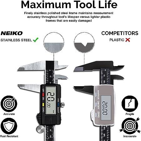 Neiko 01419A Lightweight Electronic Digital Caliper0-6 InchesInch//Fraction