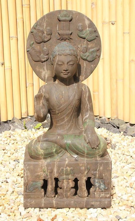 Asia Lifestyle Jardín Buda Estatua de Piedra, Jardín Buda China/Tibet figura: Amazon.es: Jardín