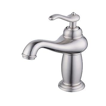 Schon Beelee Einhand Waschtischbatterie Messing Mischbatterie Gebürstetes Nickel  Wasserhahn Bad Armatur Für Küche