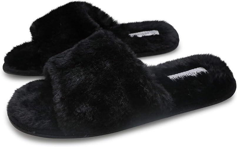 Emma Shoes Women's Non-Slip Fuzzy Faux