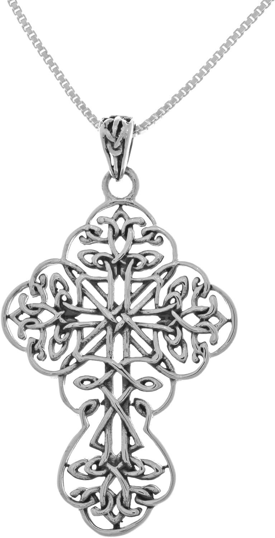 Brigid Ashwood The Rose Celtic Cross Pendant by Peter Stone sterling silver