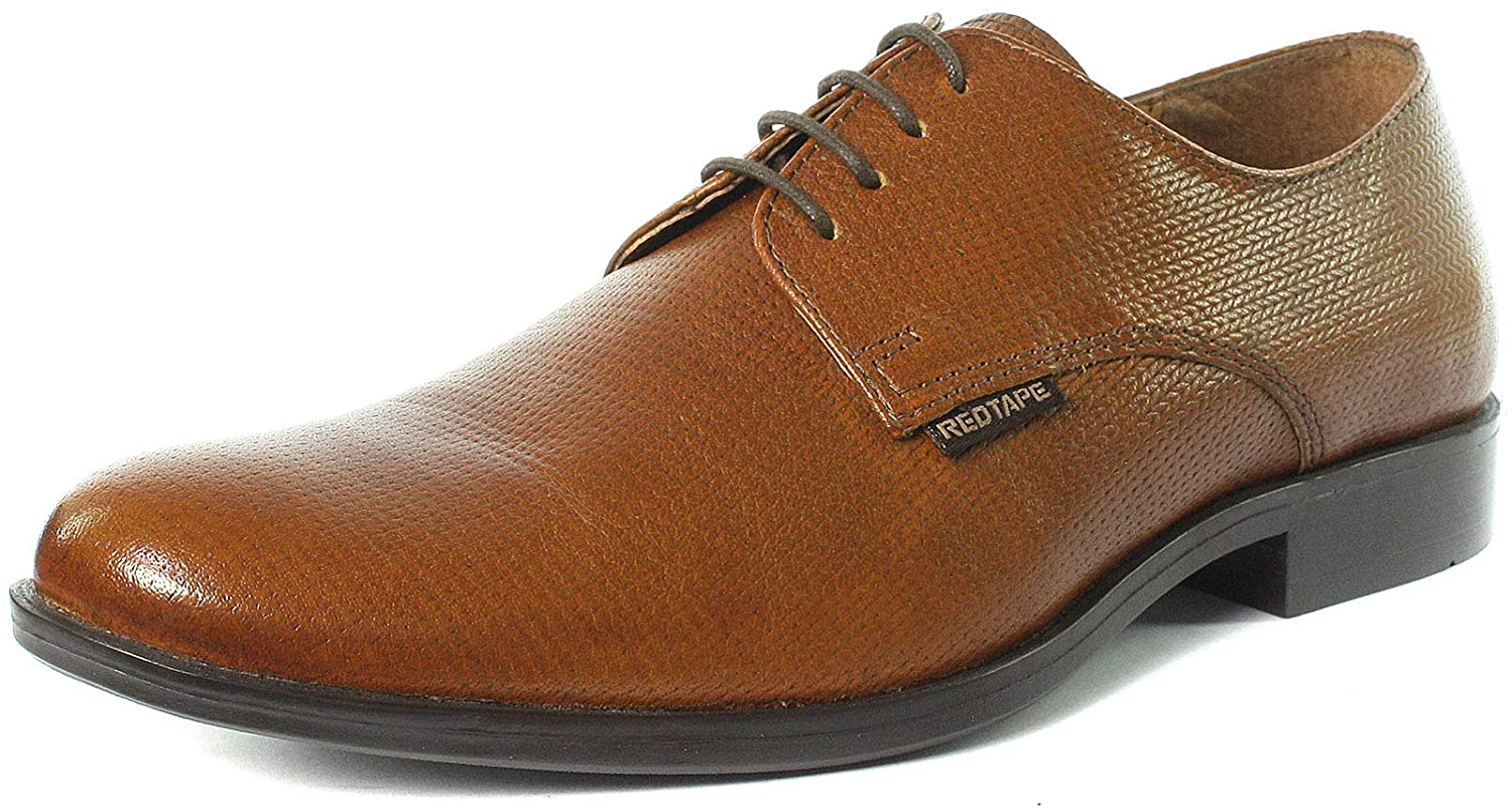 8fc532c42ffc38 Amazon.com | Red Tape MGS08883-04 Tan 103 Mens Lace Up Derby Shoes, Size 10  | Shoes