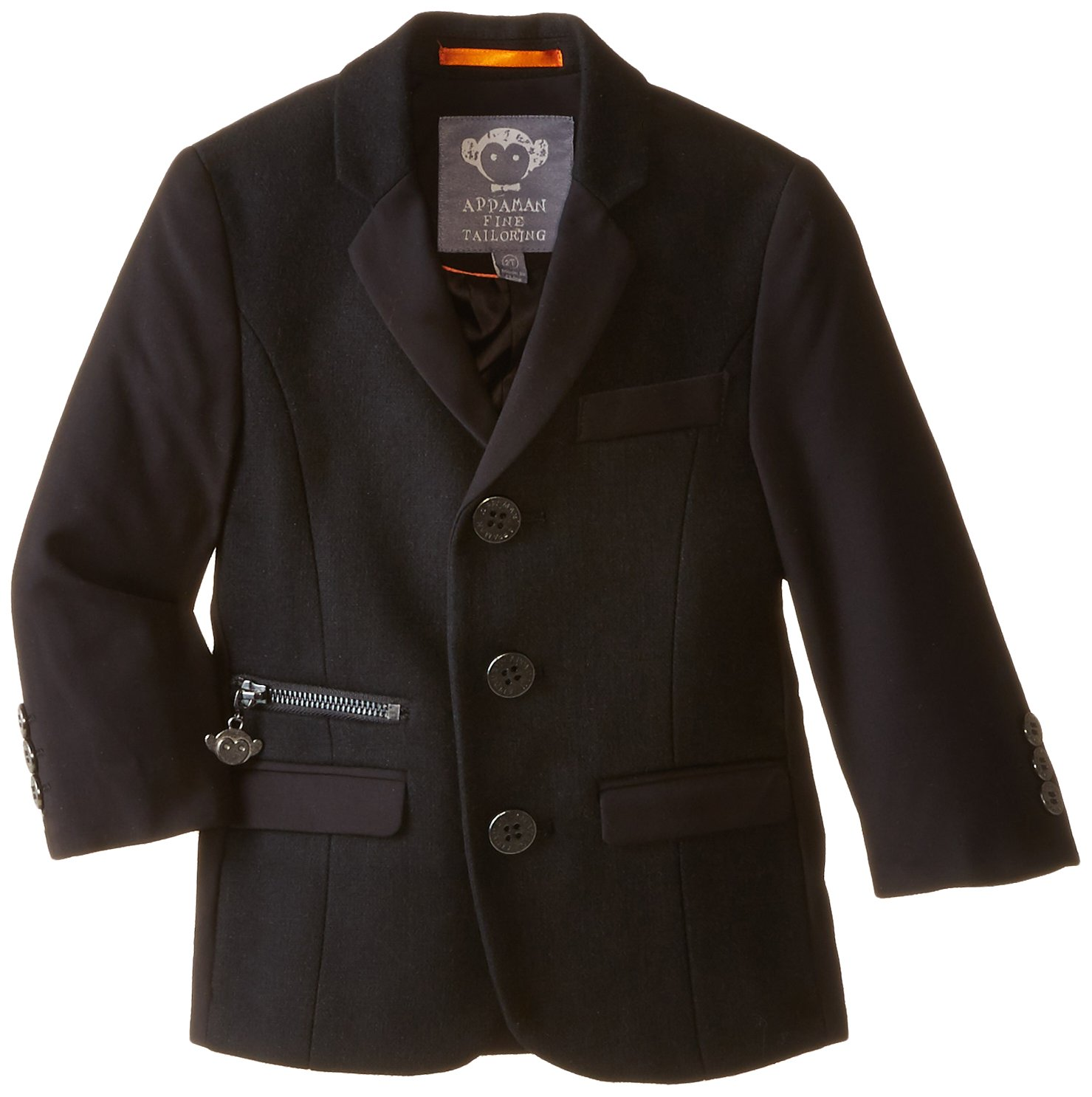 Appaman Little Boys' Techy Blazer, Black, 2T by Appaman