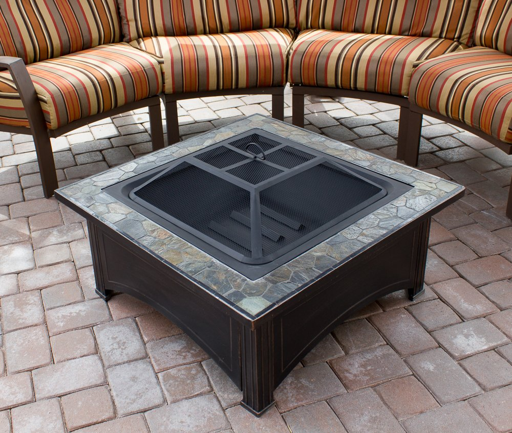 amazon com az patio heaters fire pit with square table wood