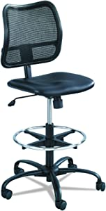 Safco Products Vue Mesh Extended-Height Chair , Ergonomic, Black Vinyl
