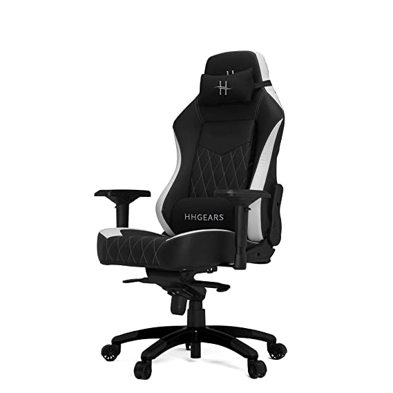 Amazon.com: HHGears XL 800 Series PC Gaming Racing Chair Black and White with Headrest/Lumbar Pillows: Kitchen & Dining