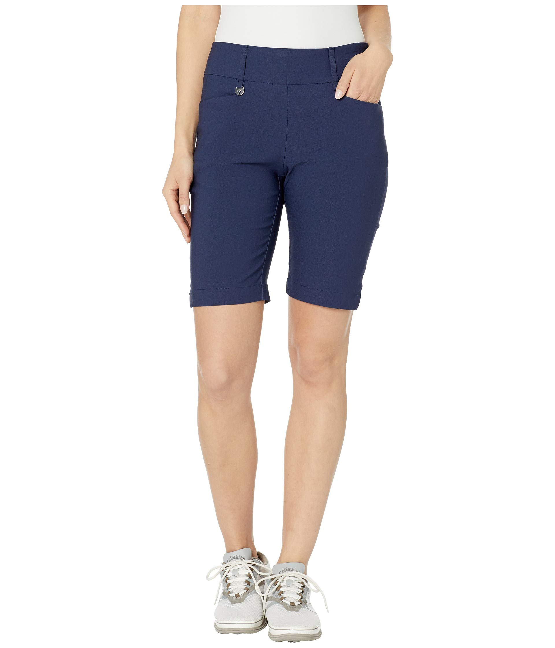 Callaway Performance Flat Front 9.5'' Inseam Short, Solid Peacoat, X-Large by Callaway