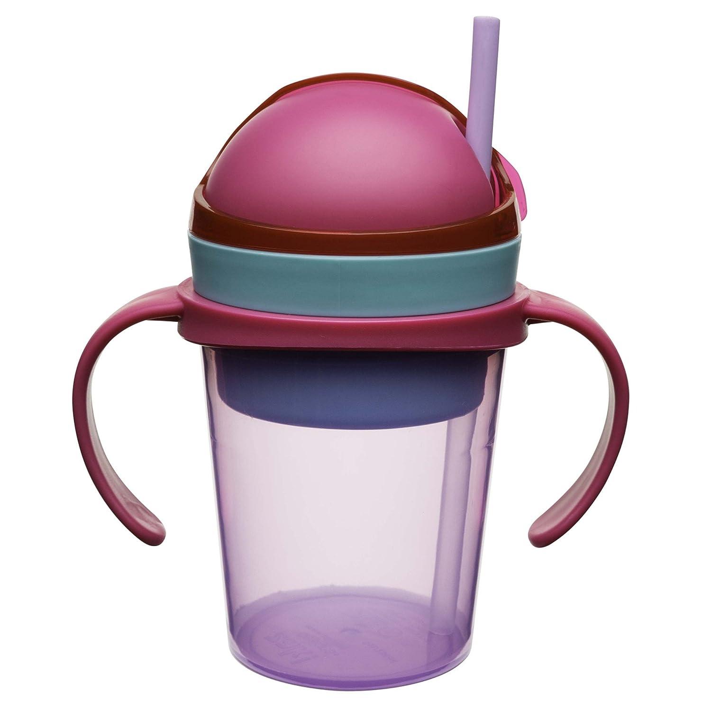 4 oz//8oz Purple Zak Designs 0913-S480 zaksnak Snack /& Drink Container with Handles 4 oz//8oz