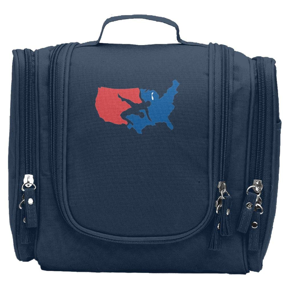Vacation-365 Usa Wrestling Makeup Bag For Fashion Women