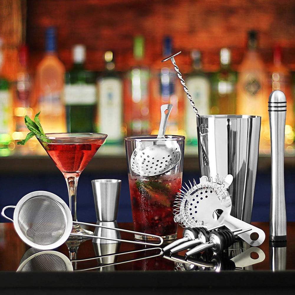 LTSWEET Kit Cocteleria Profesional Juego de Coctelería ...