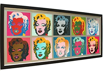 Amazonde Bild Poster Kunstdruck Andy Warhol Marilyn Monroe Pop Art