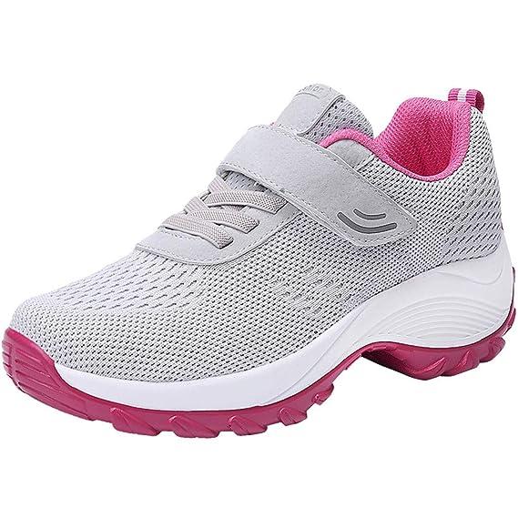 Luckycat Mujer Zapatillas de Deporte Cuña Zapatos para ...