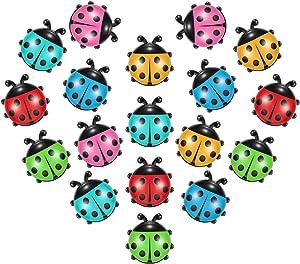 18 Pieces Ladybug Shape Refrigerator Magnets Cute Mini Ladybug Shape Fridge Magnets Kitchen Office Magnets for Office Home Whiteboards Lock Cabinet Photo Decoration