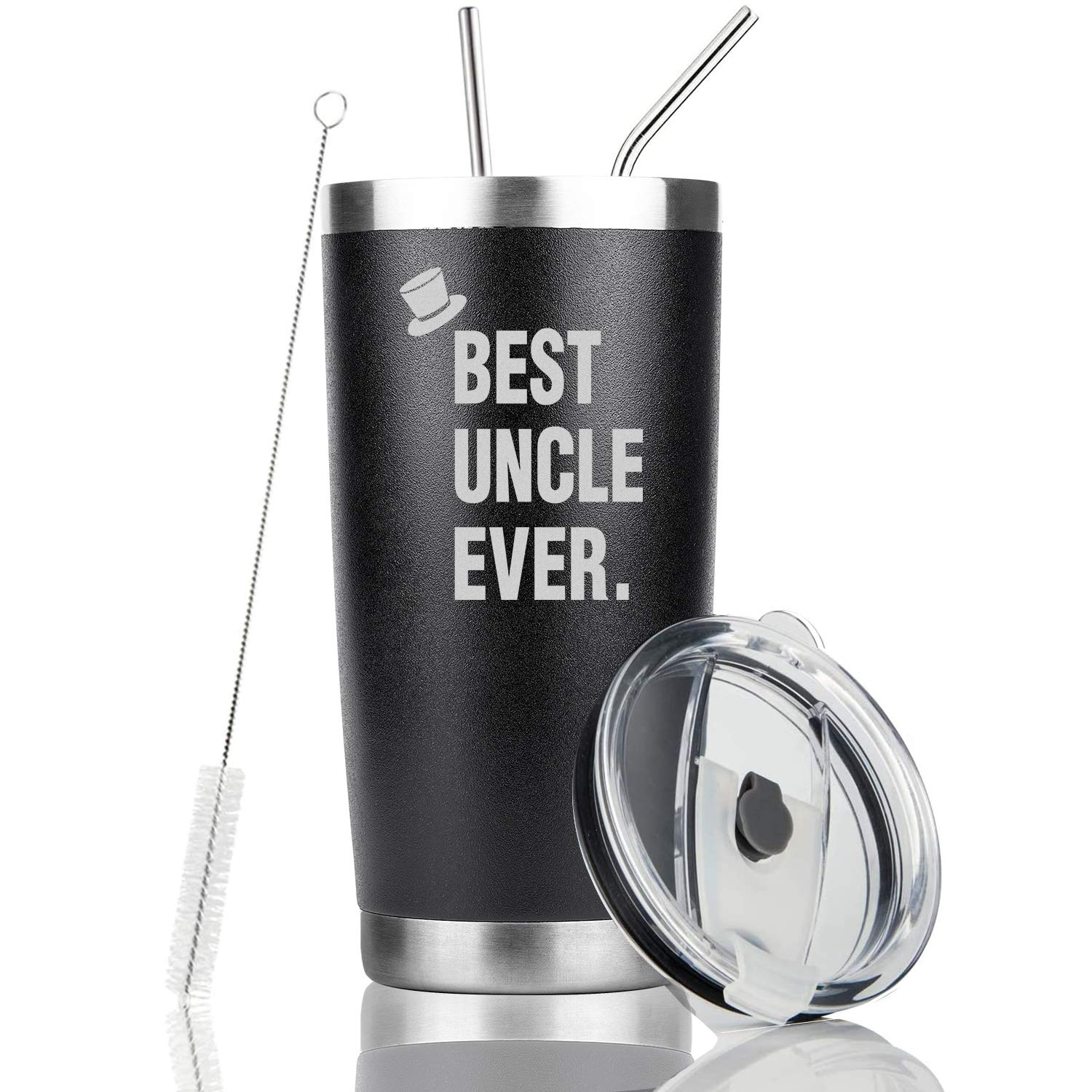 20OZ Vacuum Insulated Tumbler Double Wall Coffee Cup with 2 Steel Straw