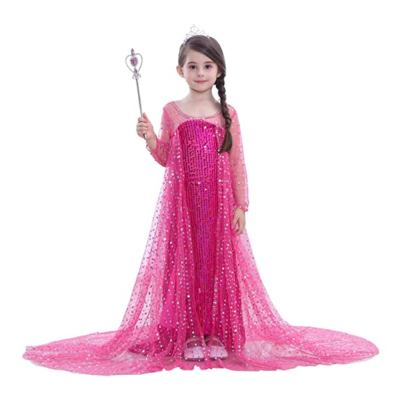 a56a0c5ae Children s Princess Dress Frozen Snow Queen Elsa Costumes Mesh Dress ...