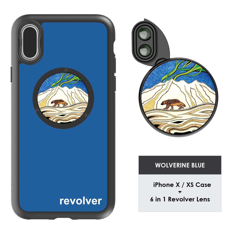 Funda Y 6  Lentes Ztylus Revolver P/ iPhone X/xs - Wolver...