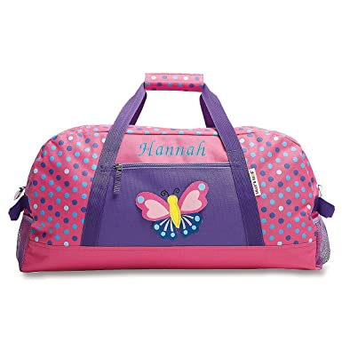 b1ba24f680c1 Image Unavailable. Image not available for. Color  Personalized Kids 3D  Butterfly Carry-On Duffel Bag for Girls ...