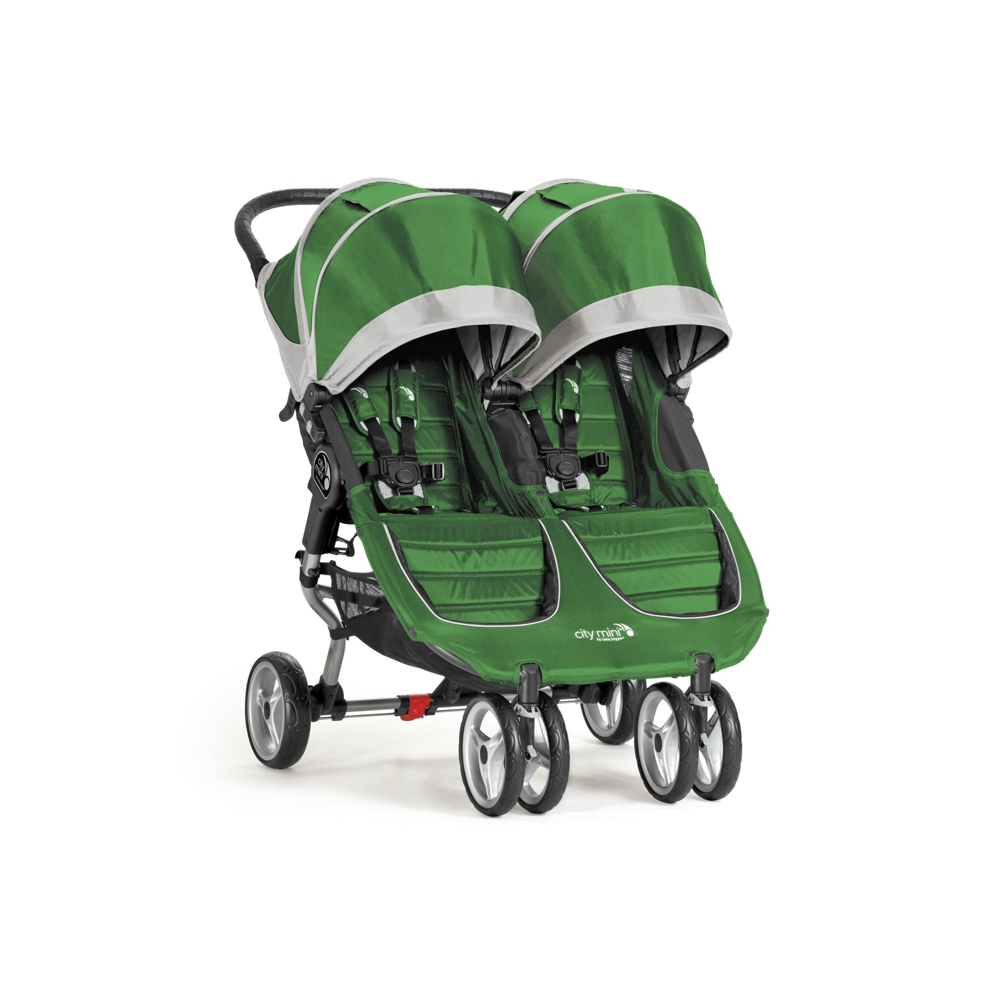 Baby Jogger City Mini Double Stroller, Evergreen/Gray
